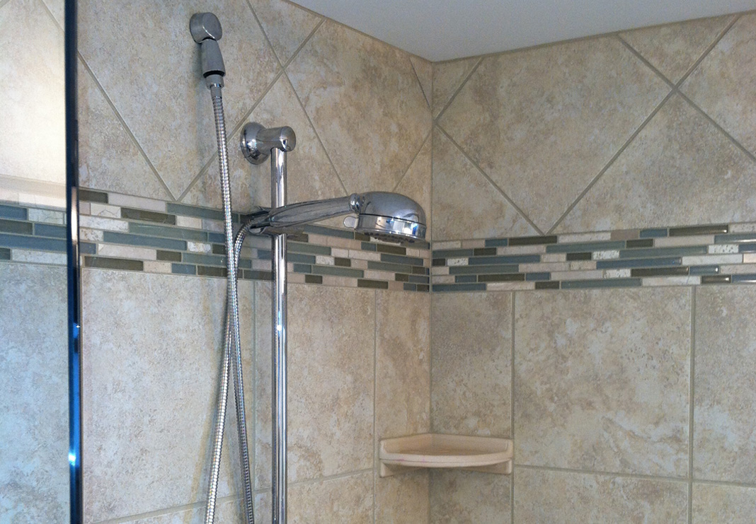 featured project bathroom shower head after
