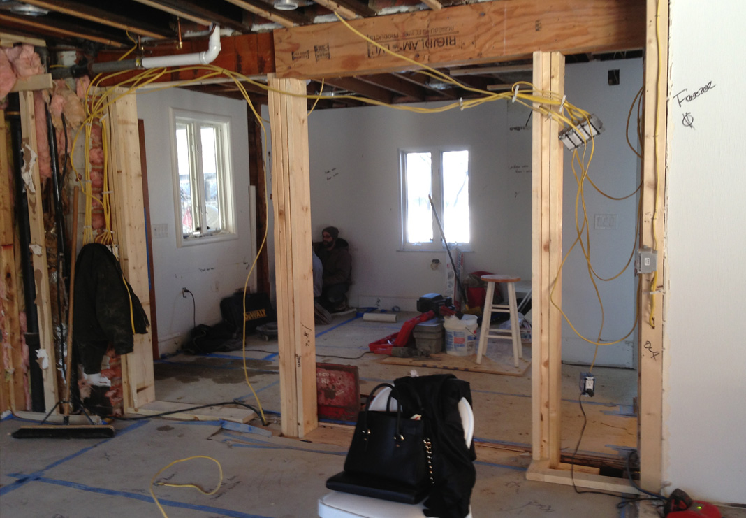 mudroom during