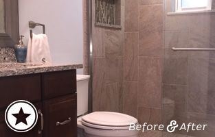 Masculine Bathroom Renovation Thumbnail