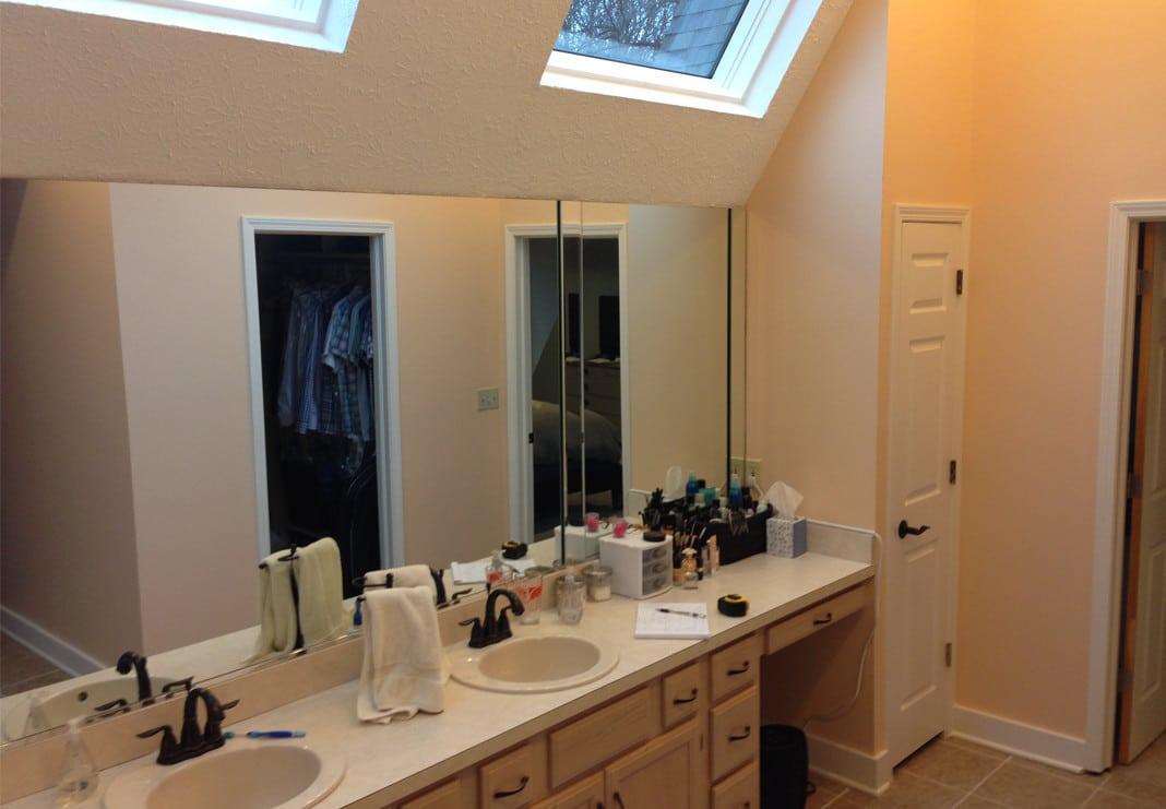 Bathroom Counter - Before Photo