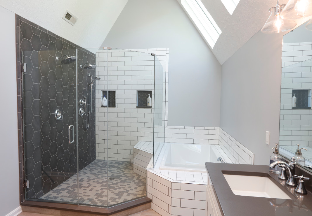 Beautifully renovated contemporary master bathroom