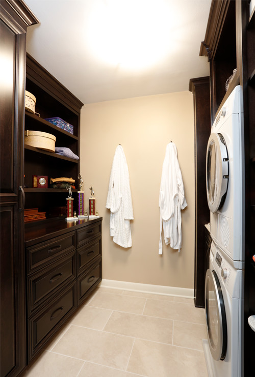 Updated Master Walk-in Closet with Built-in Laundry