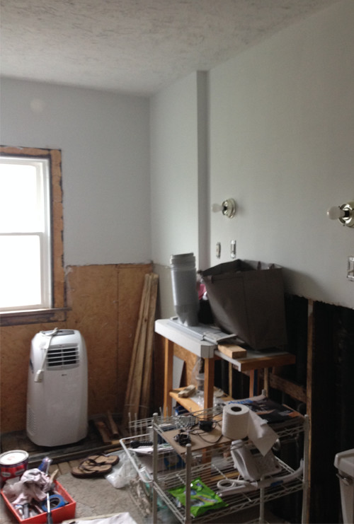 Partially Demoed Bathroom - Before Photo