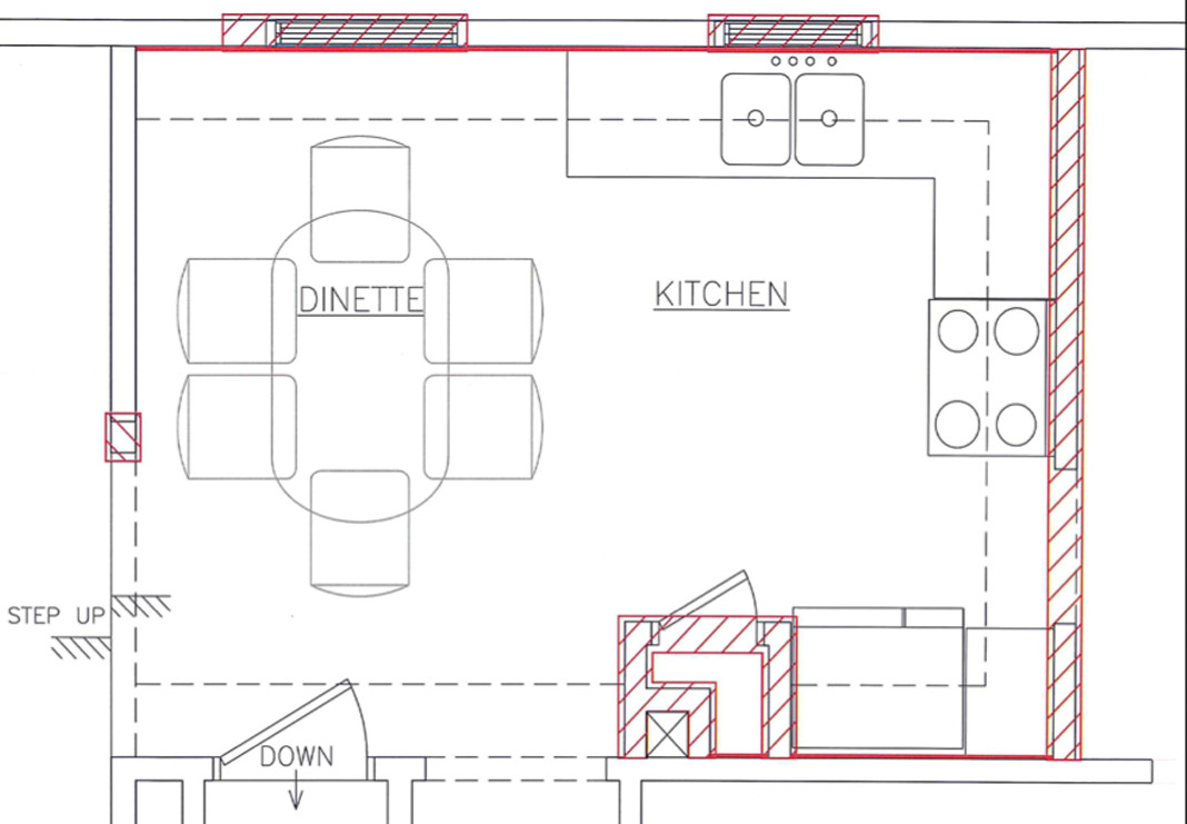 Original Floor Plan with Demo Markups