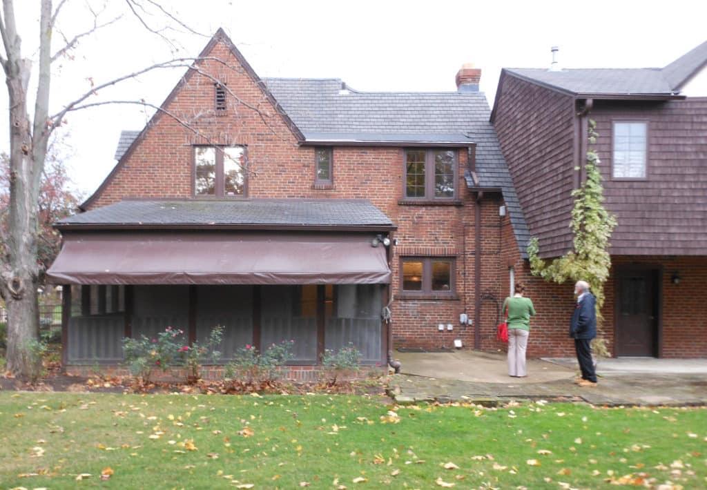 Original screened porch exterior - Before Photo