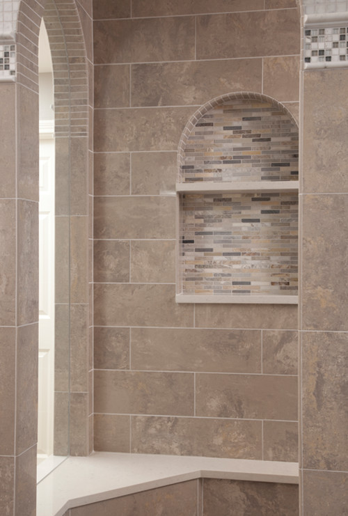 Shower Tile Detail Work