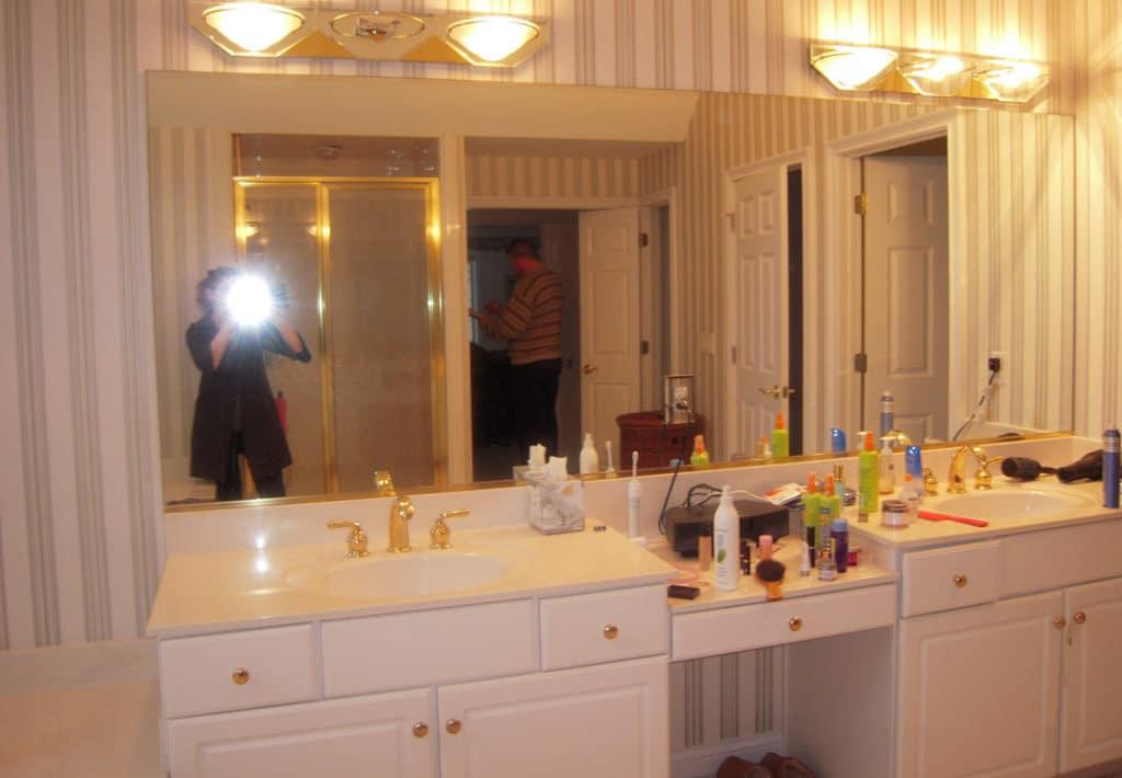 Double Vanity - Before Photo