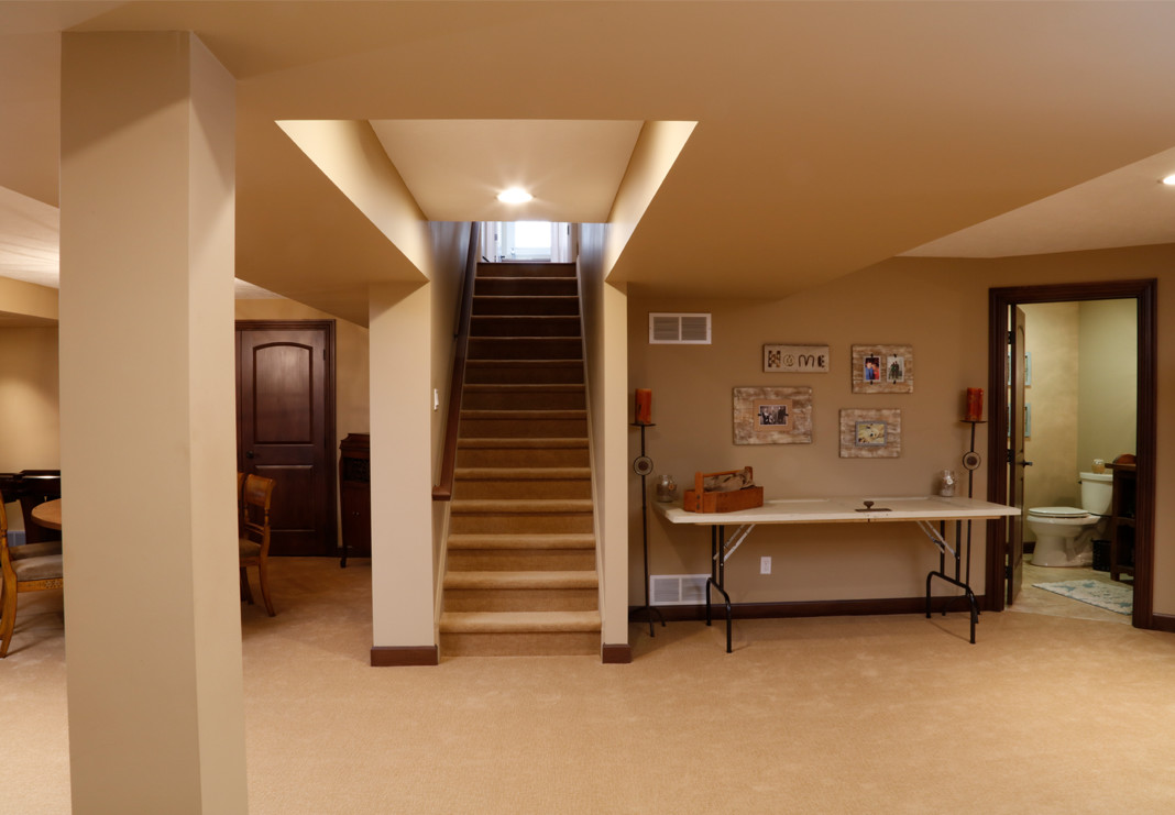 Finished Basement Stairs