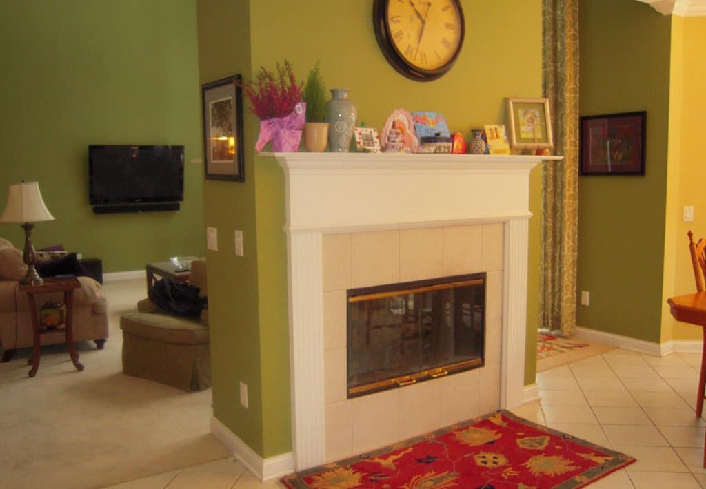 Kitchen Fireplace - Before Photo