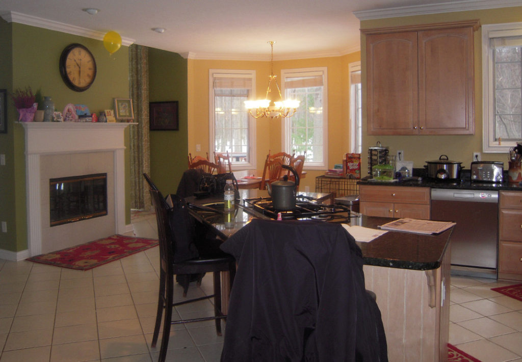 Kitchen with Fireplace - Before Photo