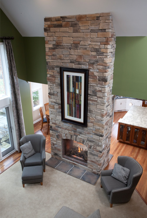 Breathtaking Two Story Fireplace