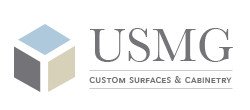 US Marble and Granite Custom Surfaces & Cabinetry Logo