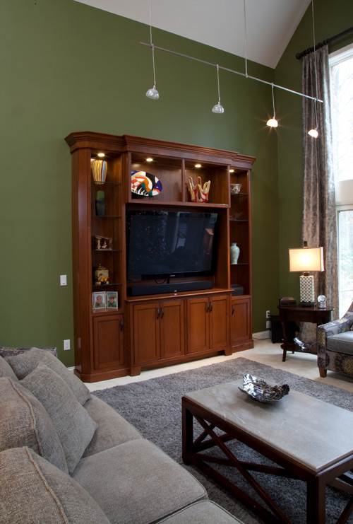 Updated Family Room with Custome Entertainment Center Display