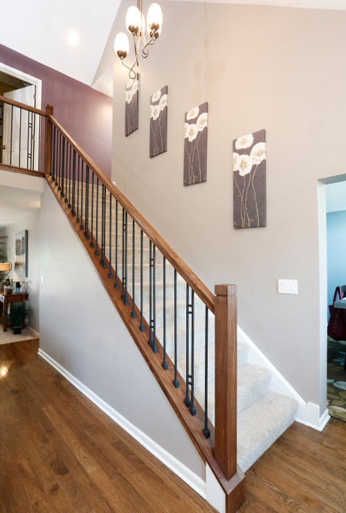 Wood and Iron Stair Banister