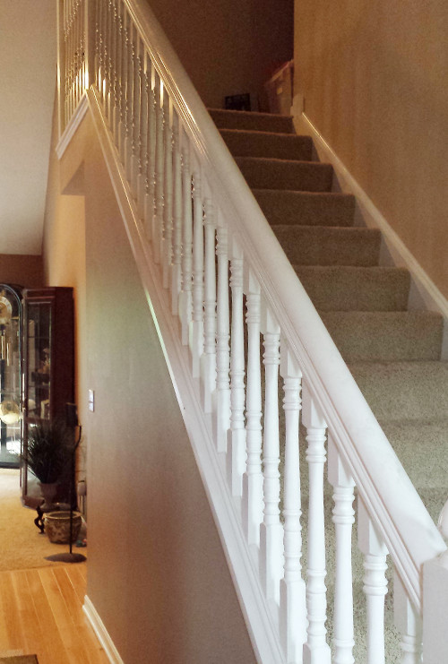Wooden Stair Banister - Before