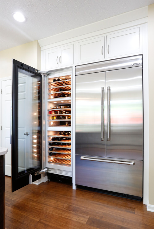 Built-in Wine Cooler and Refrigerator