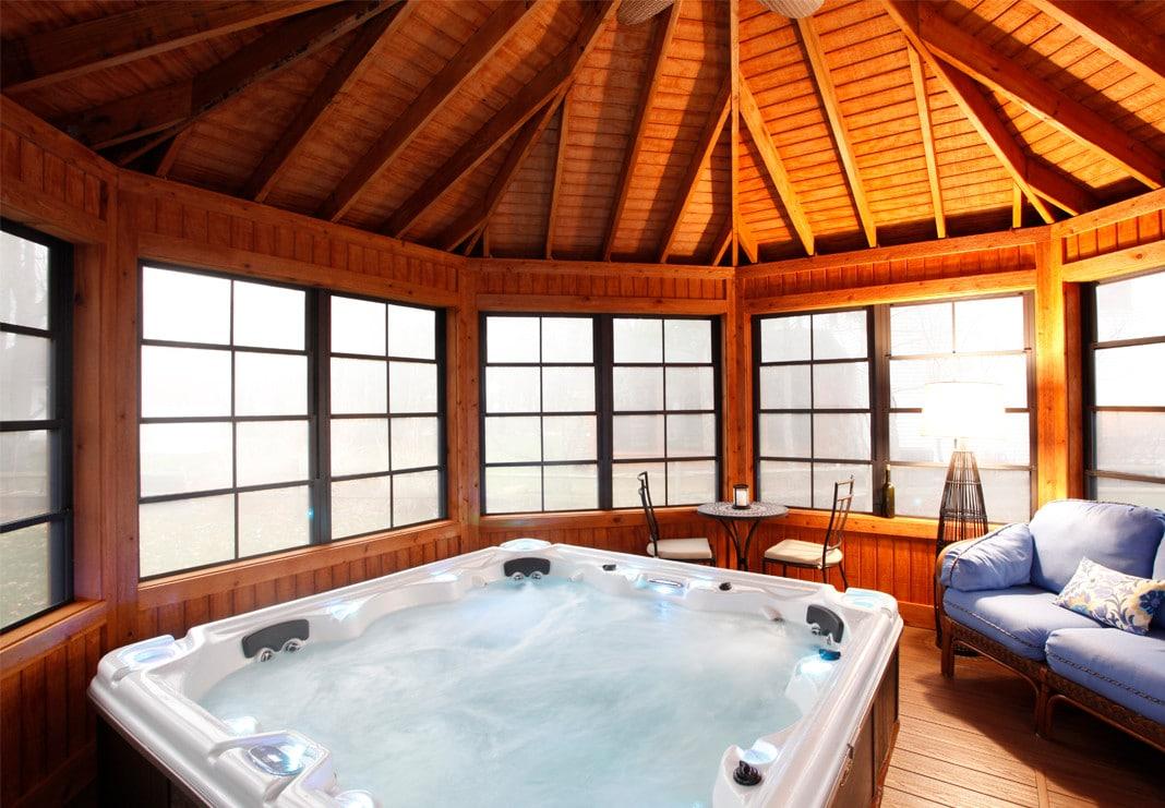 Interior Gazebo Hot Tub