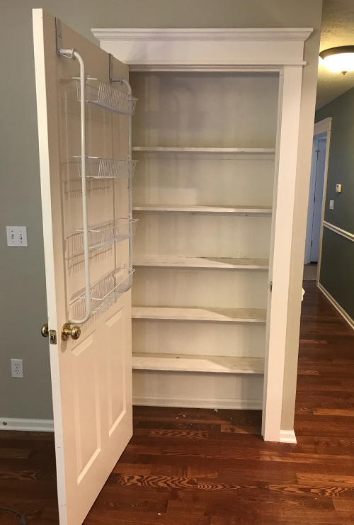 Before Cramped Pantry Closet