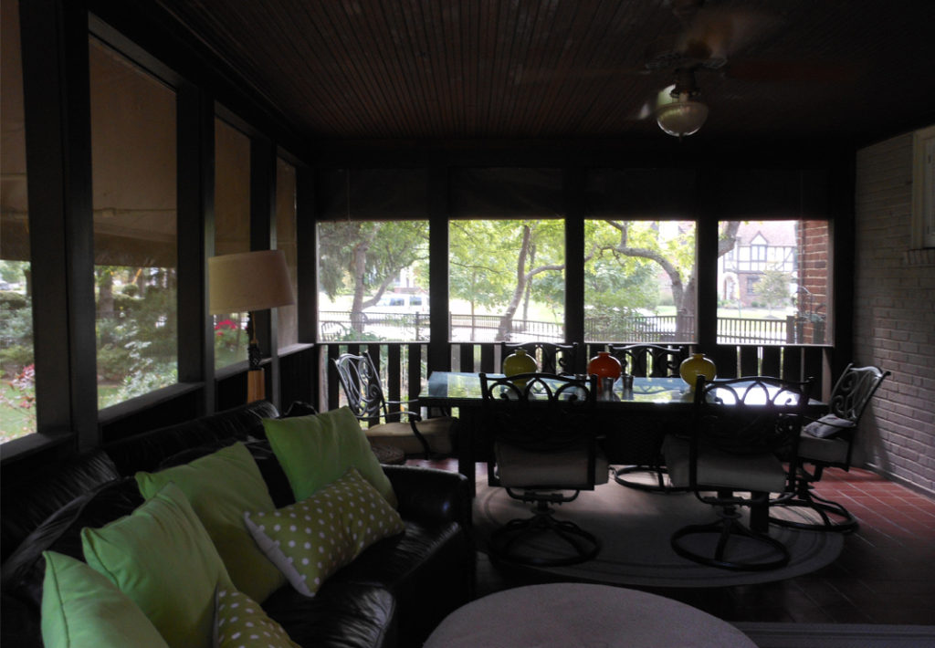 Original Screened Sunroom Porch