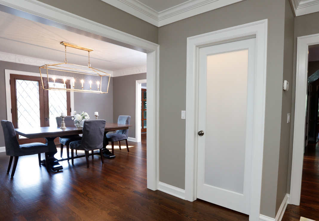 Pantry Door and Dining Room Entrance