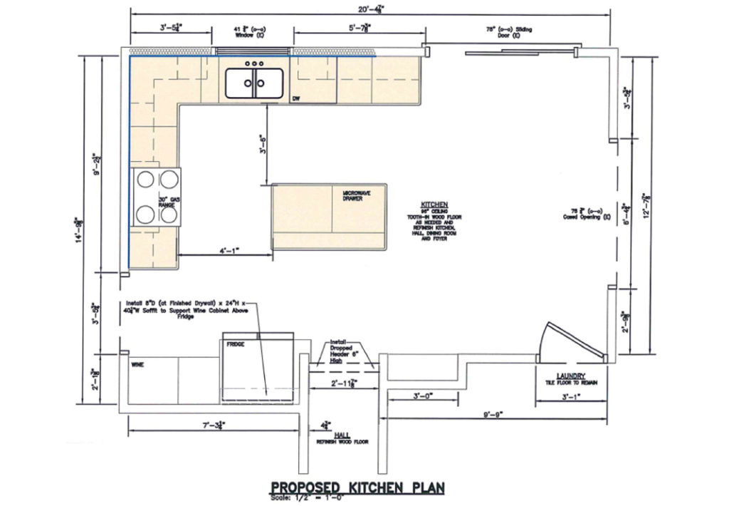 New Kitchen Floor Plan