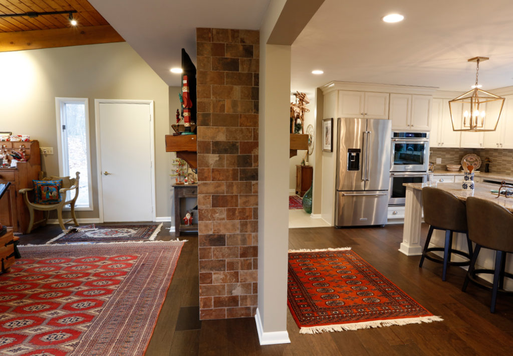 Kitchen Lving Fireplace