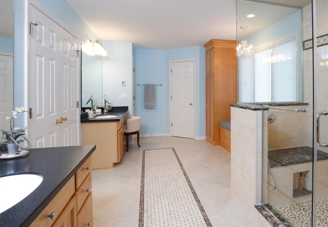 Large Open Bathroom