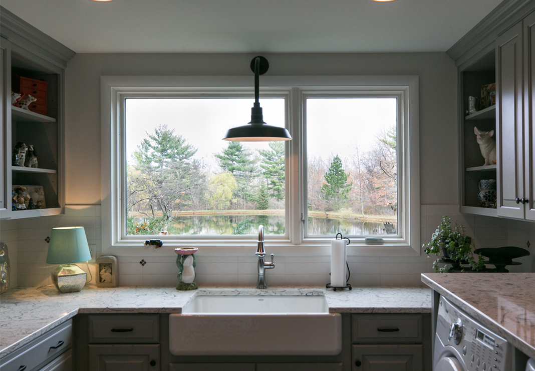 Laundry Sink with Lake View
