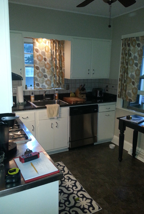 Before: Narrow, Cramped Kitchen