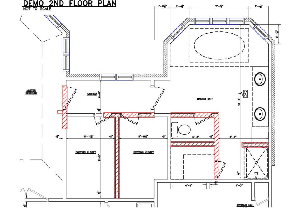 Before-Bathroom Floorplan