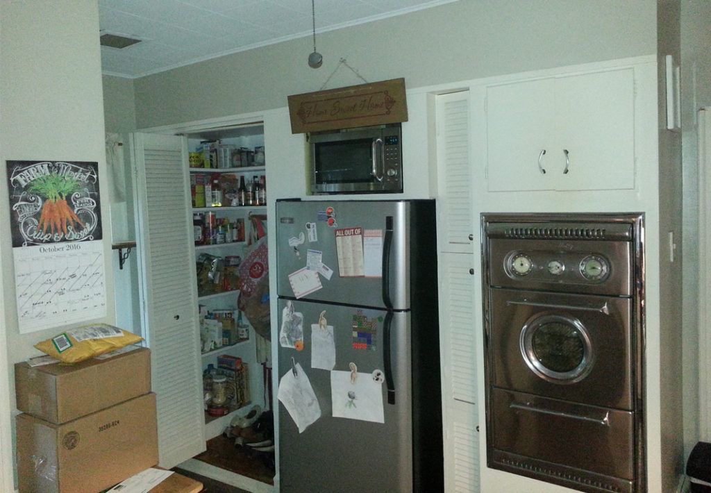 Before: Wall with Pantry and Appliances