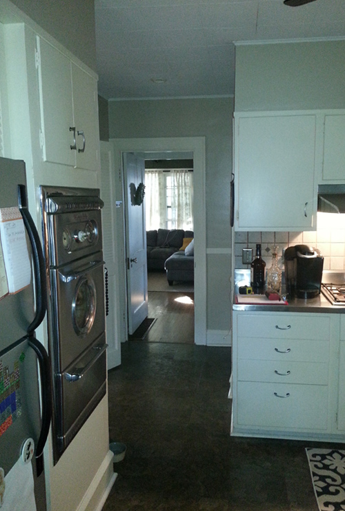 Before: Tired, Dated, Cramped Kitchen