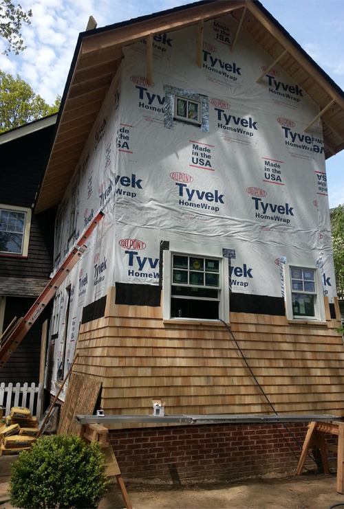 During: Building Addition and Matching Siding