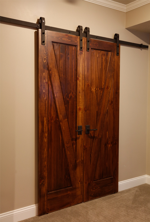 Barn Door Storage Area
