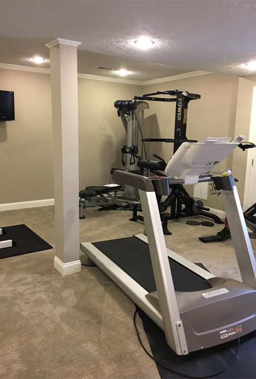 Before: Basement Exercise Room