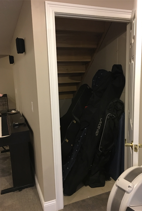 Before Storage Under Stairs