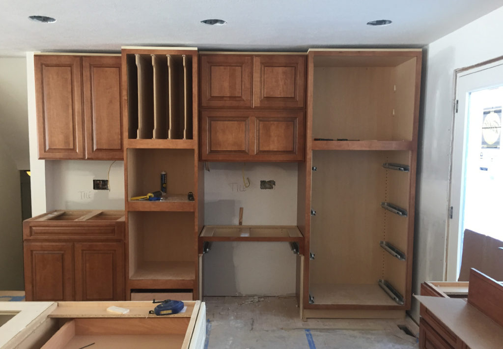 During: Kitchen Pantry and Desk Area