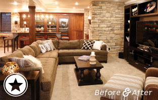 Sophisticated Basement