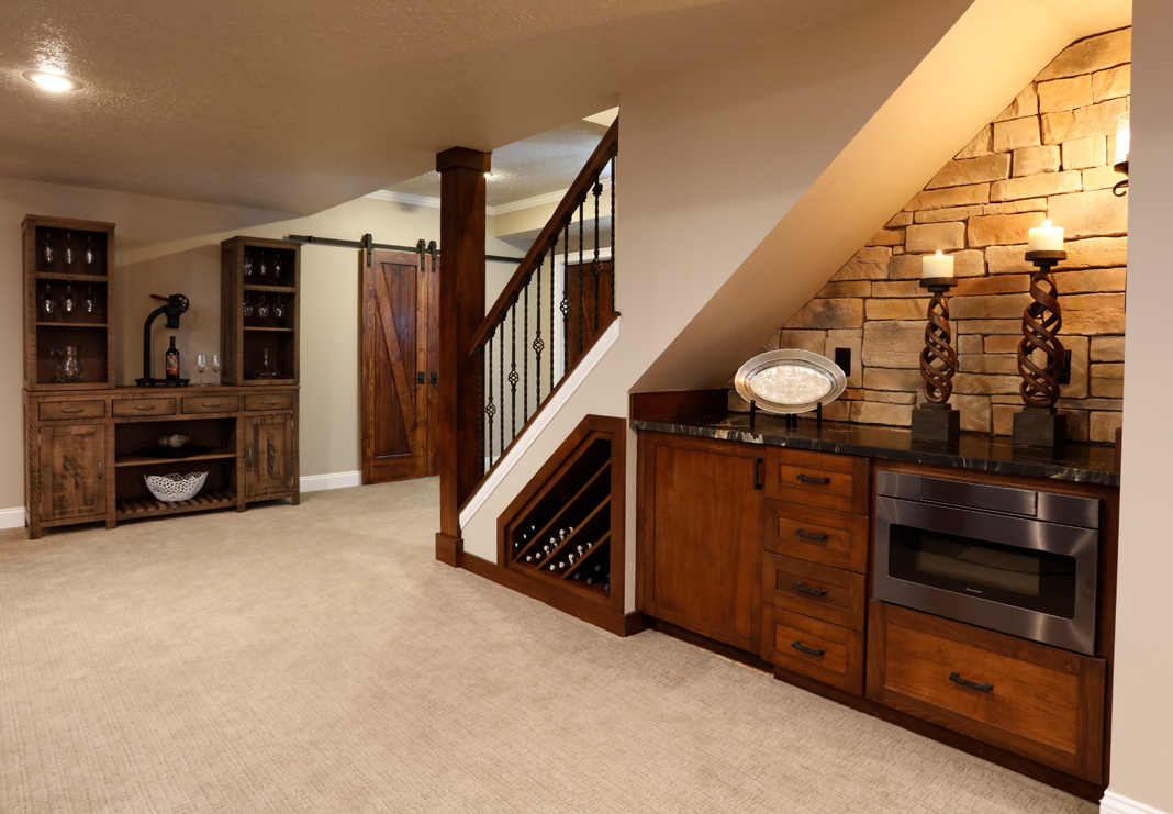 Sophisticated Basement Dover Home Remodelers