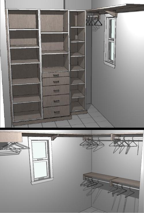 Closet Renderings