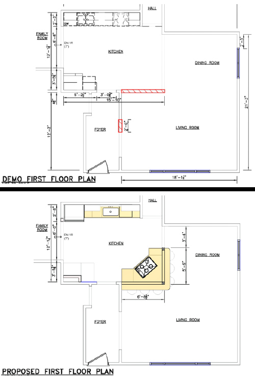 Demo And Proposed Floor Plans