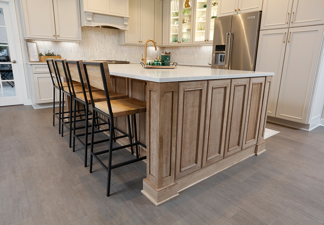 Detailed Kitchen Island