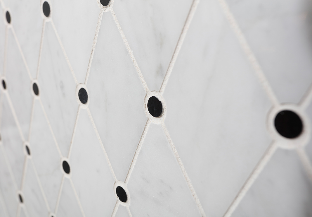 Italian-Carrera Mosaic Tile Accents