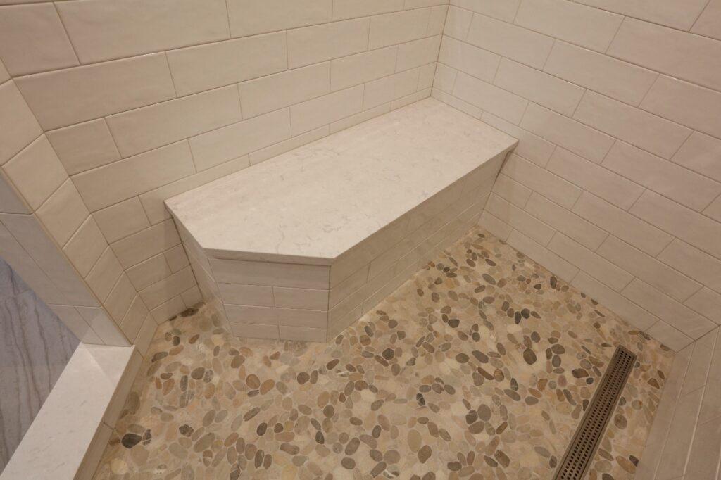 Mosaic Emser Venetian tiles in steam shower