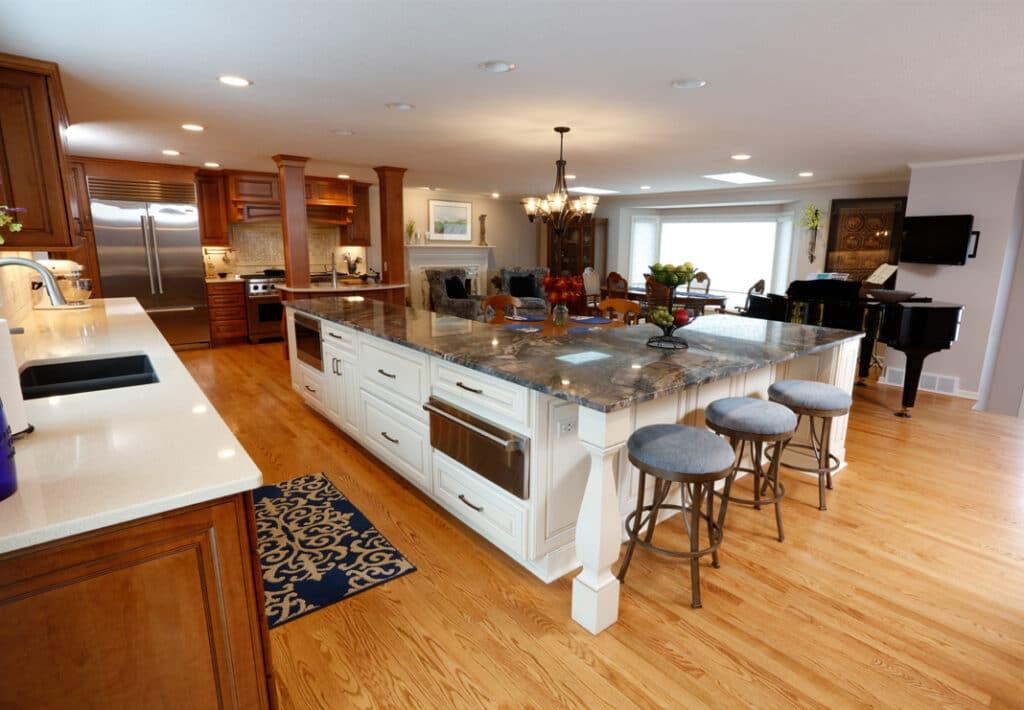 super sized kitchen island
