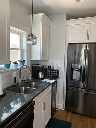 Remodeled Kitchen fridge and mini fridge